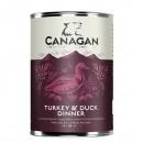*原箱優惠*Canagan原之選頂級無穀物主食狗罐頭(火雞伴鴨肉配方) 400G x12