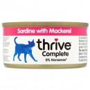 Thrive貓主糧罐頭-沙甸魚+鯖魚75g