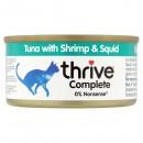 Thrive貓主糧罐頭-吞拿魚+海蝦+墨魚75g