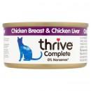 Thrive貓主糧罐頭-雞+雞肝 75g