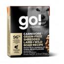 *原箱優惠*GO! SOLUTIONS™活力營養系列-無穀物羊肉絲+豬肉狗糧配方12.5oz x12