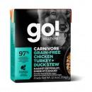 *原箱優惠*GO! SOLUTIONS™活力營養系列-無穀物雞肉+火雞+鴨肉狗糧配方12.5oz x12